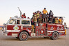 fire engine - sparky, burning man, fire engine, fire truck, firefighters, sparky