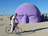 dreamer by pepe ozan - burning-man 2005, art installation, burning man, dreamer, head, pepe ozan, purple