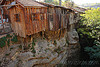 cliff houses, canyon, cliff, hanging, houses, wood, wooden