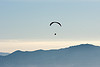 paraglider, backlight, flying, freedom, haze, hazy, horizon, lonely, paraglider, paragliding, peaceful, silhouette