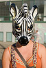 zebra mask, how weird festival, woman, zebra mask