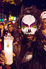 face paint - dia de los muertos - halloween (san francisco), candle, cat eyes contact lenses, cat eyes contacts, color contact lenses, day of the dead, dia de los muertos, face painting, facepaint, halloween, makeup, man, night, special effects contact lenses, theatrical contact lenses