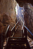 crooked stairs in natural cave, backlight, bau, caving, crooked, fairy cave, natural cave, spelunking, wooden stairs