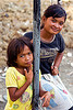 young girls at homeless camp, children, homeless camp, kids, lahad datu, poor