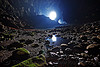 deer cave - mulu (borneo), backlight, caving, deer cave, gunung mulu national park, natural cave, pebbles, reflection, spelunking, water