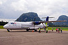 ATR-72, 9m-mwd, aircraft, atr-72-212a, atr-72-500, boarding, clouds, gunung mulu national park, maswings, mulu airport, passengers, plane, stol, tarmac, taxiway, turboprop