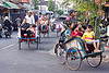 cycle rickshaws (becaks) in jogja