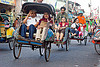 becaks (cycle rickshaws)