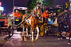 horse carriages at night on malioboro - yogyakarta (indonesia)