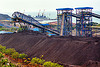 coal conveyors and stockpile
