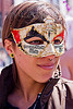 carnival mask with music staves, carnival mask, ear piercing, how weird festival, music staff, music staves, musical, nose piercing, septum piercing, woman