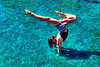 handstand in pool, handstand, pond, spring training, swimming pool, upside-down, water, woman
