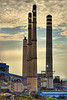 smoke stacks from coal-burning power plant