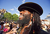 beard, dreadlocks and hat, beard, black man, dreads, gay pride, hat, paris