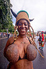 coconut bra, caribbean, carnaval tropical, carnival, choukaj, coconut bra, coconuts, costumes, creole, créole, festival, guadeloupe, hat, horns, indigenous culture, parade, paris, people, traditional, tribal, west indies, woman