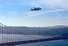 space shuttle endeavour flies over golden gate bridge, aircraft, boeing 747, fly-by, flying, flyover, golden gate bridge, nasa, ov105, piggyback, plane, sca, sf endeavour 2012, space shuttle endeavour, suspension bridge