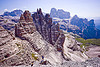 dolomites - view from monte paterno summit