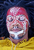 african face paint, african american man, african face paint, black man, dolores park, dreads, eyes closed, eyes shut, face painting, facepaint, indigenous culture, jason, lying down, makeup, red, tribal face paint, white dots, yellow tunic