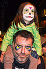 father and daughter with skull makeup, child, daughter, day of the dead, dia de los muertos, face painting, facepaint, father, halloween, kid, little girl, man, night, skull makeup