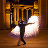 silhouette - fire whip, cary, columns, fire dancer, fire dancing, fire performer, fire spinning, fire whip, flame, man, night, palace of fine arts, silhouette