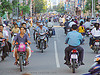 rush-hour traffic - motorcycles and scooters - street - nha trang - vietnam, motorbikes, motorcycles, nha trang, rider, riding, rush-hour, street, traffic