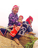red dao tribe mother and child - vietnam, asian woman, asian women, baby, child, dzao tribe, headwear, hill tribes, indigenous, infant, mother, red dao tribe, red zao tribe, sapa, tribe girls, turban, yao tribe