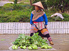 flower h'mong woman selling vegetable - vietnam, farmers market, flower h'mong tribe, flower hmong, hill tribes, indigenous, salads, street market, vegetables