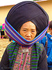 mien yao/dao tribe woman with impressive headwear - vietnam, asian woman, dzao tribe, facet, ha, headwear, hill tribes, indigenous, market, mature woman, mien dao tribe, mien yao tribe, mèo vạc, old, turban, zao tribe