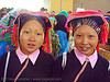 dao tribe sisters - vietnam, asian woman, dao tribe, dzao tribe, gold teeth, hat, headwear, hill tribes, indigenous, market, mèo vạc, tribe girl, yao tribe, zao tribe