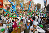 crowd of muslim men with flags - eid-milad-un-nabi muslim festival (india), crowd, eid-e-milad-un-nabi, eid-e-milād-un-nabī, eid-milad-un-nabi, flags, islam, mawlid, men, milad un-nabi, milad-an-nabi, milād an-nabī, milād un-nabī, mohammed's birthday, muhammad's birthday, muslim festival, muslim parade, muslims, nabi day, prophet's birthday, religion, street, عید میلاد النبی, ईद मिलाद नबी