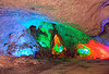 tacky color floodlights in cave - vietnam, caving, lang sơn, natural cave, spelunking, tam thanh cave, tâm thành