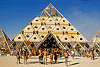 temple pyramid entrance - burning man 2013, burning man, temple of whollyness, wooden pyramid