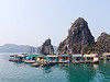 floating village in halong bay, boats, cat ba island, cát bà, floating homes, floating houses, floating village, halong bay, sea