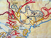 battle of saigon - war map, army museum, arrows, hanoi, military, red, vietnam war, war maps, yellow